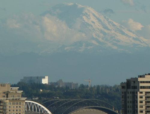Mt. Rainier over Seattle Washington Britney Lyn Hamm