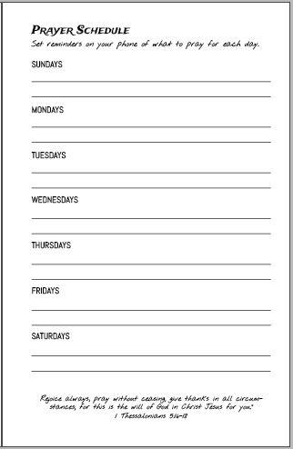 Abide Book Prayer Schedule